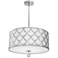 Dainolite HAN-194P-PC-SV Hannah 4 Light 19 inch Silver and Polished Chrome Pendant Ceiling Light