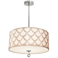 Dainolite HAN-194P-PC-WG Hannah 4 Light 19 inch Winter Gold and Polished Chrome Pendant Ceiling Light