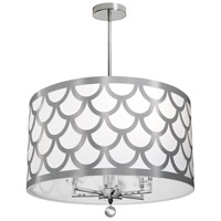 Dainolite HAN-226C-PC-SV Hannah 6 Light 22 inch Silver and Polished Chrome Chandelier Ceiling Light
