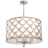 Dainolite HAN-226C-PC-WG Hannah 6 Light 22 inch Winter Gold and Polished Chrome Chandelier Ceiling Light