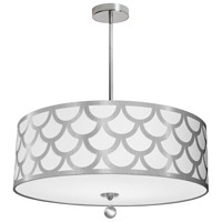 Dainolite HAN-244P-PC-SV Hannah 4 Light 24 inch Silver and Polished Chrome Pendant Ceiling Light