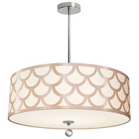 Hannah 4 Light 24 inch Winter Gold and Polished Chrome Pendant Ceiling Light