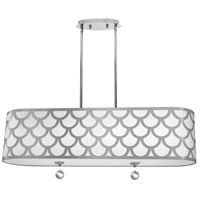 Dainolite HAN-344HP-PC-SV Hannah 4 Light 35 inch Silver and Polished Chrome Pendant Ceiling Light
