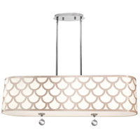 Hannah 4 Light 35 inch Winter Gold and Polished Chrome Pendant Ceiling Light