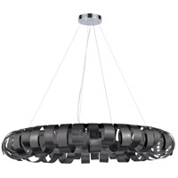 Dainolite HAR-288P-BK Harmony 8 Light 28 inch Black and Polished Chrome Pendant Ceiling Light