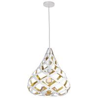 Dainolite HER-15P-692 Hershey LED 15 inch Matte White Pendant Ceiling Light
