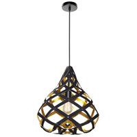 Dainolite HER-15P-698 Hershey LED 15 inch Matte Black Pendant Ceiling Light