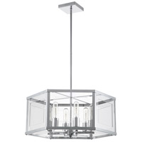 Highgate 6 Light 19 inch Polished Chrome Chandelier Ceiling Light