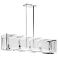 Signature 5 Light Polished Chrome Horizontal Pendant Ceiling Light