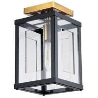 Dainolite HG-71FH-MB-VB Highgate LED 6 inch Matte Black and Vintage Bronze Flush Mount Ceiling Light