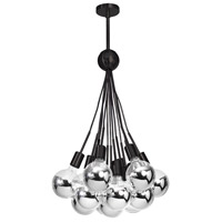 Dainolite Industrial Chic 13 Light Pendant in Black IC-13P-BK-CHBL