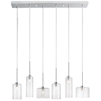 Industrial Chic 6 Light 7 inch Polished Chrome Pendant Ceiling Light