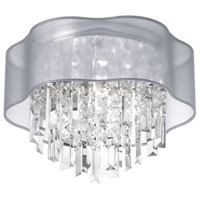Illusion 3 Light 13 inch Polished Chrome Flush Mount Ceiling Light