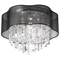 Illusion 3 Light 13 inch Polished Chrome Chandelier Ceiling Light