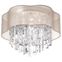 Dainolite Lighting Illusion 3 Light Chandelier in Polished Chrome  ILL-133FH-PC-817