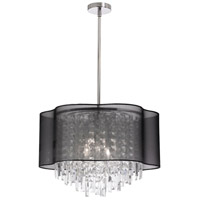 Dainolite Lighting illusion 4 Light Chandelier in Polished Chrome  ILL-144C-PC-815
