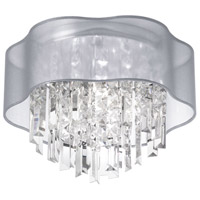 Illusion 4 Light 17 inch Polished Chrome Flush Mount Ceiling Light