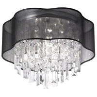 Illusion 4 Light 17 inch Polished Chrome Chandelier Ceiling Light