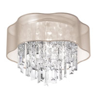 Signature 4 Light 17 inch Polished Chrome Flush Mount Ceiling Light