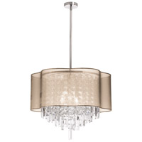 Dainolite Lighting Illusion 6 Light Chandelier in Polished Chrome  ILL-206C-PC-811