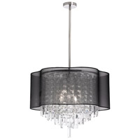 Illusion 6 Light 20 inch Polished Chrome Chandelier Ceiling Light