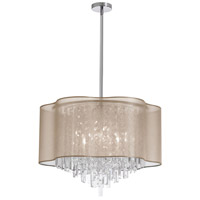 Dainolite Illusion 8 Light Chandelier in Polished Chrome ILL-258C-PC-811