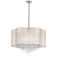Illusion 8 Light 25 inch Polished Chrome Chandelier Ceiling Light