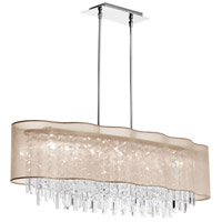 Dainolite Illusion 8 Light Chandelier in Polished Chrome ILL-408C-PC-811