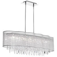 Dainolite Lighting Illusion 8 Light Chandelier in Polished Chrome  ILL-408C-PC-814