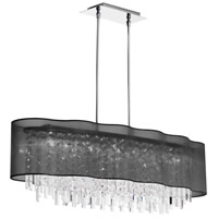 Dainolite Lighting Illusion 8 Light Chandelier in Polished Chrome  ILL-408C-PC-815