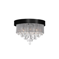 Dainolite Intermezzo 4 Light Flush Mount in Polished Chrome INT-144FH-PC-BK