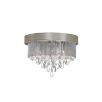 Dainolite Intermezzo 4 Light Flush Mount in Polished Chrome INT-144FH-PC-PEB