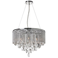 Dainolite Intermezzo 6 Light Chandelier in Polished Chrome INT-206C-PC