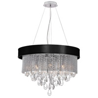 Dainolite Intermezzo 6 Light Chandelier in Polished Chrome INT-236C-PC-BK