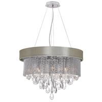 Dainolite Intermezzo 6 Light Chandelier in Polished Chrome INT-236C-PC-PEB