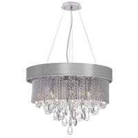 Dainolite Intermezzo 6 Light Chandelier in Polished Chrome INT-236C-PC-SV