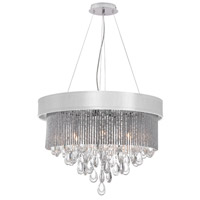 Dainolite Intermezzo 6 Light Chandelier in Polished Chrome INT-236C-PC-WH