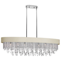 Dainolite Intermezzo 7 Light Chandelier in Polished Chrome INT-417HC-PC-PEB