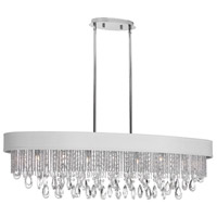 Dainolite Intermezzo 7 Light Chandelier in Polished Chrome INT-417HC-PC-WH