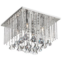 Jacqueline 4 Light 12 inch Polished Chrome Flush Mount Ceiling Light