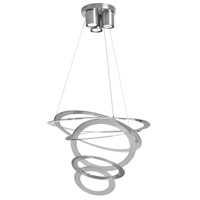 Janus 3 Light 20 inch Satin Chrome Pendant Ceiling Light