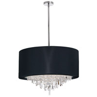Dainolite Jasmine 8 Light Chandelier in Polished Chrome with Black Lycra Shade JAS-258C-PC-901