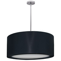 Dainolite Jasmine 4 Light Pendant in Polished Chrome with Black Lycra Shade JAS-25P-PC-901