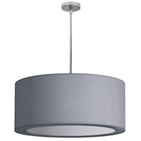 Dainolite Jasmine 4 Light Pendant in Polished Chrome with Silver Lycra Shade JAS-25P-PC-923