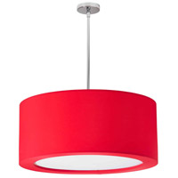 Dainolite Jasmine 4 Light Pendant in Polished Chrome with Red Lycra Shade JAS-25P-PC-927