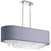 Dainolite Jasmine 8 Light Chandelier in Polished Chrome with Silver Lycra Shade JAS-41C-PC-923
