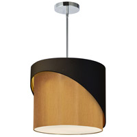 Dainolite JAZ141-PC-698-842 Jazlynn 1 Light 14 inch Polished Chrome Pendant Ceiling Light