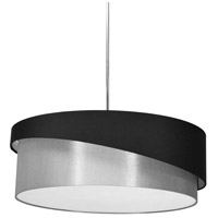 Dainolite JAZ243-PC-797-835 Jazlynn 1 Light 24 inch Polished Chrome Pendant Ceiling Light