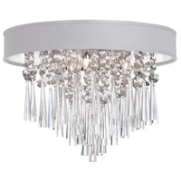 Dainolite Josephine 3 Light Flush Mount in Polished Chrome with White Baroness Shade JMS103FH-PC-693