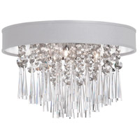 Dainolite Josephine 4 Light Flush Mount in Polished Chrome with White Baroness Shade JMS144FH-PC-693